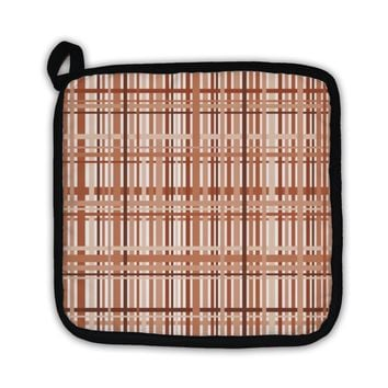 Potholder, Plaid Pattern In Earth Tones