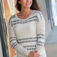 Natural Hue Knitted Sweater