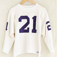 Vintage Cropped # 21 Long-Sleeve Jersey Tee- Assorted One