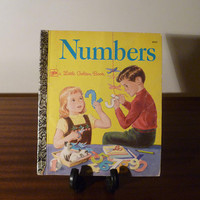"""Vintage 1977 Children's Book """"Numbers"""" - A little Golden Book / Kids Book / Retro Kids Book / Learning To Count"""