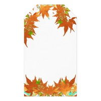 Blank Fall Holiday Gold Japanese Maple Leaves Gift Tags