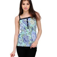 Hedie Floral Top - Green Online Shopping | 36962