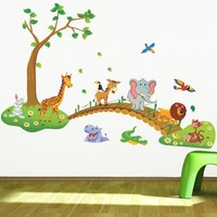 Cute Forest Animal Cartoon Wall Stickers