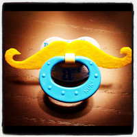 Mustache Pacifier Blonde Handlebar by BabyHipsters on Etsy