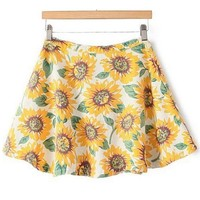 Classic Sunflower Skater Skirt
