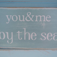 you and me by the sea seaoam green painted by scrapartbynina