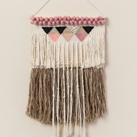 Small Cotton and Wool Hanging Wall Decor
