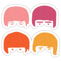 'The Beatles' Sticker by henriksorensen