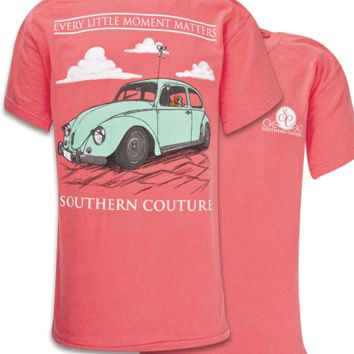 Southern Couture Every Little Moment Matter Bug Car Comfort Colors Watermelon Girlie Bright T Shirt
