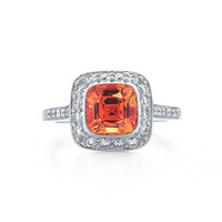 Tiffany & Co. - Tiffany Legacy® spessartite ring in platinum with diamonds.