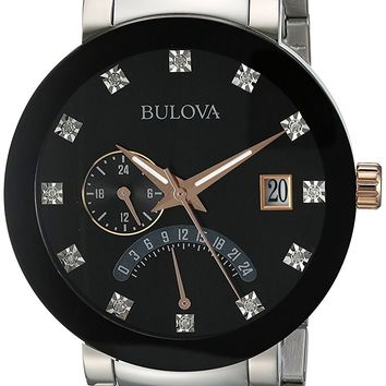 Bulova Two-Tone Stainess Steel Watch 98D129
