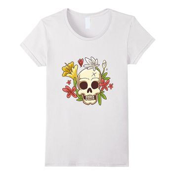 Skull With Flowers T-Shirt
