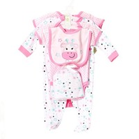 6pc Stars Layette Set 0 6m 381814600 | Matching Sets | 0 6m | Baby Girl by Size | Clothing | Burlington Coat Factory