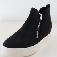 Daphni Sneaker Wedges - Black