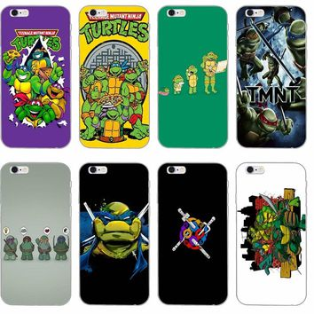 cartoon Teenage Mutant Ninja Turtles Silicone Soft phone case For iPhone 4 4s 5 5s 5c SE 6 6s plus 7 7plus 8 8plus X