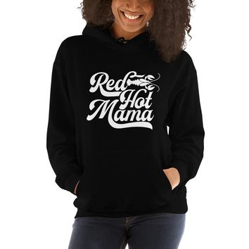 WSP Red Hot Mama Hoodie Hooded Sweatshirt
