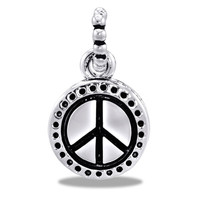 DaVinci Beads Black And Silver Peace Sign Jewelry