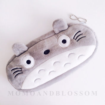 Adorable Soft Totoro Pencil Case Studio Ghibli Stationery School Supplies