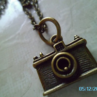 Camera Necklace  Vintage Style  Ready to Ship by LoveYewDesigns