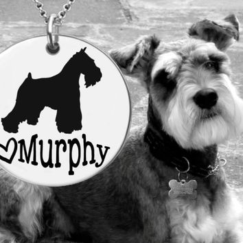 Miniature Schnauzer Dog Personalized Necklace