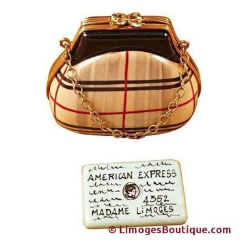 BURBERRY PURSE W/CHAIN & CREDIT CARD LIMOGES BOXES