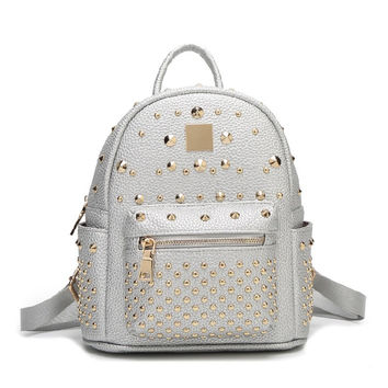 Stylish PU Leather Casual Backpack [6581505479]