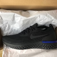 Nike Epic React Flyknit Triple Black Size 9 Brand New