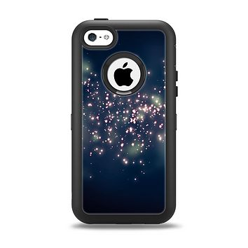 The Dark & Glowing Sparks Apple iPhone 5c Otterbox Defender Case Skin Set
