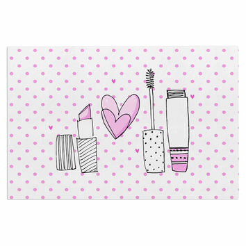 "MaJoBV ""Girls Luv"" Pink Makeup Decorative Door Mat"