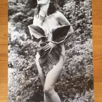 Bjork Leaf black and white rare out of print poster 24 x 33