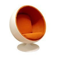 Ball Chair - Blue - Modern Living Room Furniture at Hayneedle