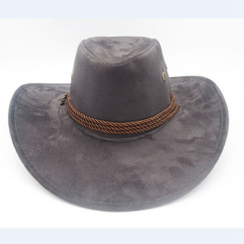 Horse Sun Hat Faux Leather Cowboy Hat Men and Women Outdoor Travel