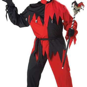 Jester Evil Men Plus Costume