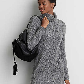 AEO Turtleneck Sweater Dress, Medium Heather