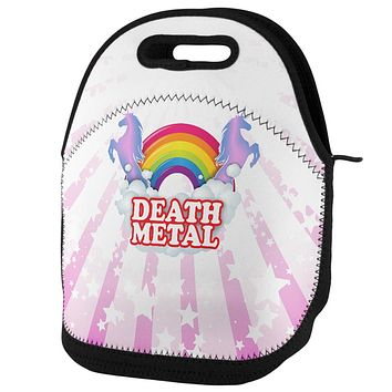 Death Metal Rainbow Lunch Tote Bag