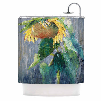 "Carol Schiff ""Lonely Sunflower"" Yellow Nature Shower Curtain"