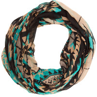 Summer Love Aztec Infinity Scarf - Teal