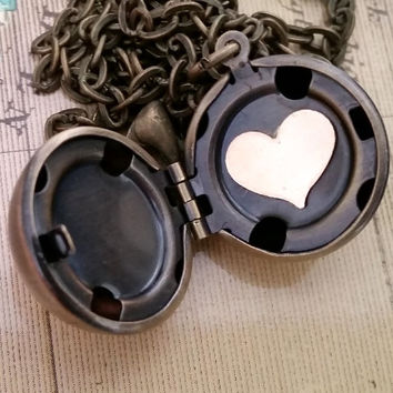 Secret Locket, Hidden Message Locket, Ball Locket, Gold Filled Heart, Mother's Day Gift