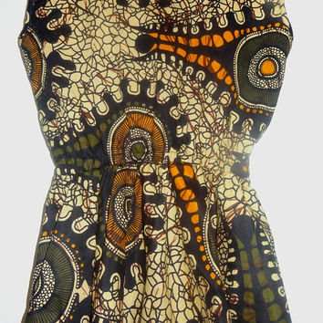 African print top - african wax print blouse