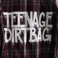 "5 Seconds of Summer 5SOS / One Direction Inspired ""TEENAGE DIRTBAG"" Flannel Mens L"