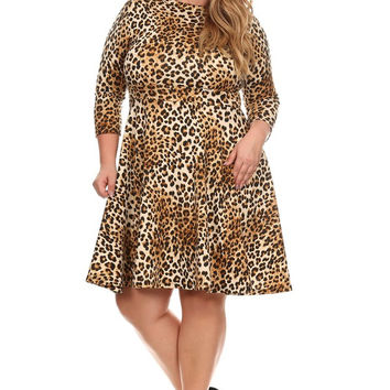 Curvy Girl Cheetah Print Dress