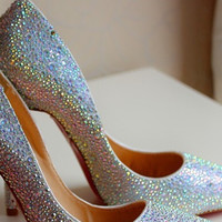 Crystal Rhinestone Pumps