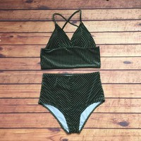 Carolyn Velvet Two Piece Swim Set