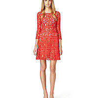 ERIN erin fetherston Sylvie Lace Dress - Ruby Red