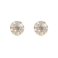 River Island Womens Gold tone pearl encrusted stud earrings