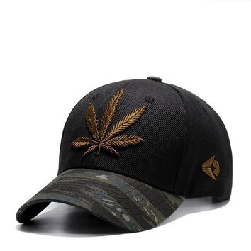 Trendy Winter Jacket Wuke Hemp Leaf Embroidery Sports Outdoors Cap Hip Hop Casquette Fashion Baseball Cap Gorras Fitted Snapback Hat for Men Women AT_92_12