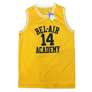 MOLPE Smith #14 Bel Air Yellow Basketball Jersey S-XXXL