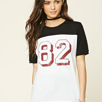 82 Graphic Colorblock Tee