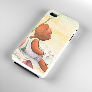 Little Teddy Bear in Beach Art iPhone 4s Case
