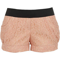 Pink elasticated lace shorts - shorts - sale - women
